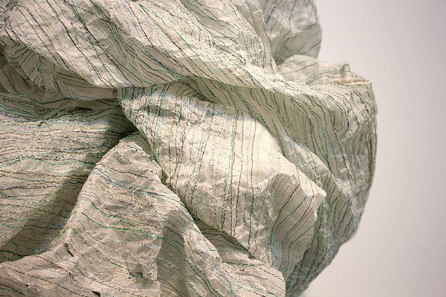 "Purge. 23""W x 37""H x 9""D. Paper, Thread. (2013)"