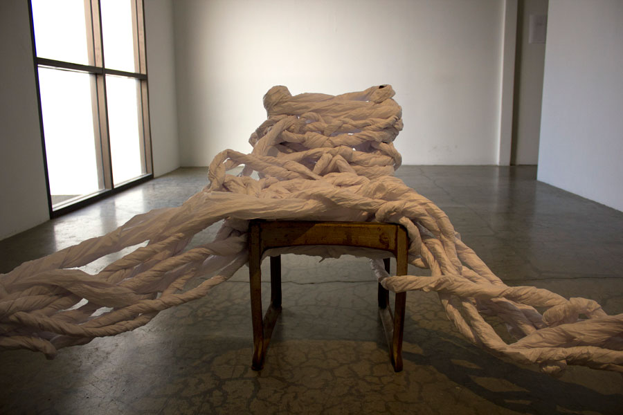 Displaced Tinder. Dimensions Variable. School Chairs, Medical Bed Paper. (2014)