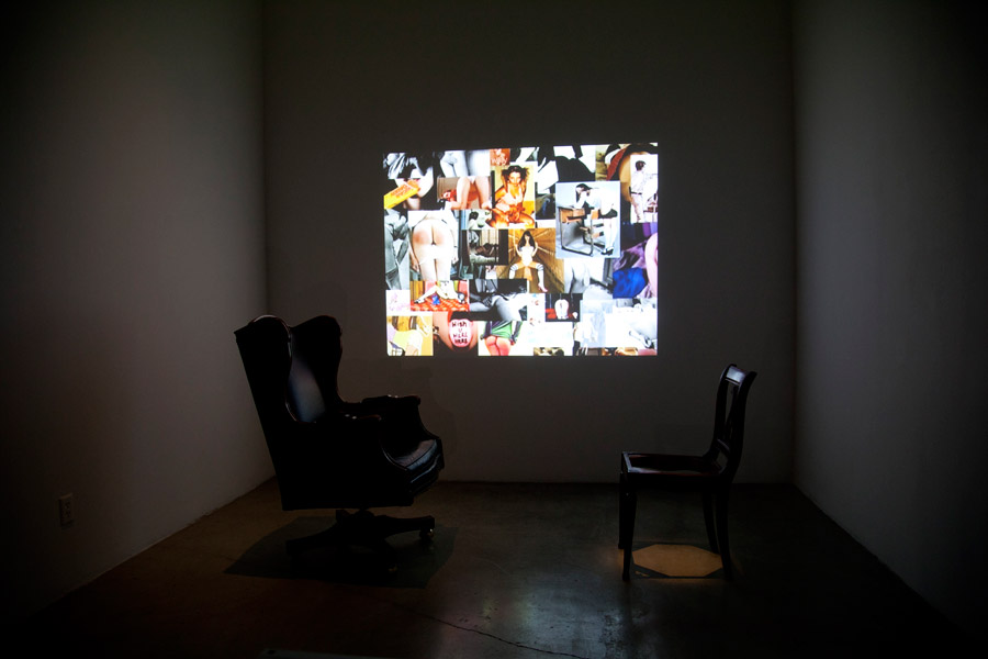 Big & Little. Chairs, Spot Lighting, Video Projection. Dimensions Variable. (2014)