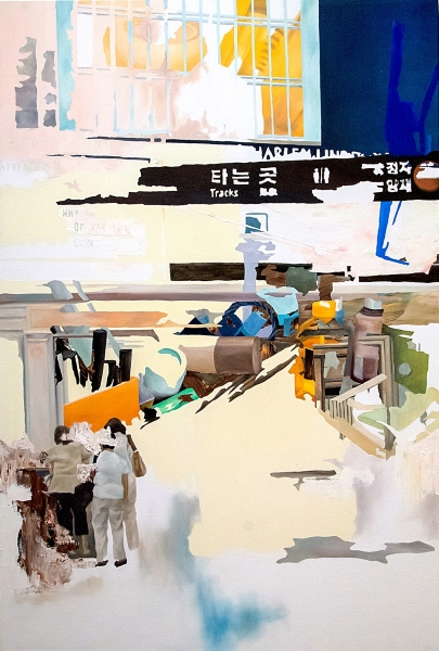 "#7 42""W x 62""H. Oil on canvas. Hyunji Lee (2013)"