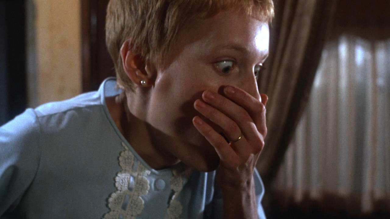 Rosemary's Baby - 1968, Roman PolanskiA young wife comes to believe that her offspring is not of this world. Waifish Rosemary Woodhouse (Mia Farrow) and her struggling actor husband Guy (John Cassavetes) move to a New York City apartment building with an ominous reputation and odd neighbors Roman and Minnie Castavet (Sidney Blackmer, Ruth Gordon). When Rosemary becomes pregnant she becomes increasingly isolated, and the diabolical truth is revealed only after Rosemary gives birth.