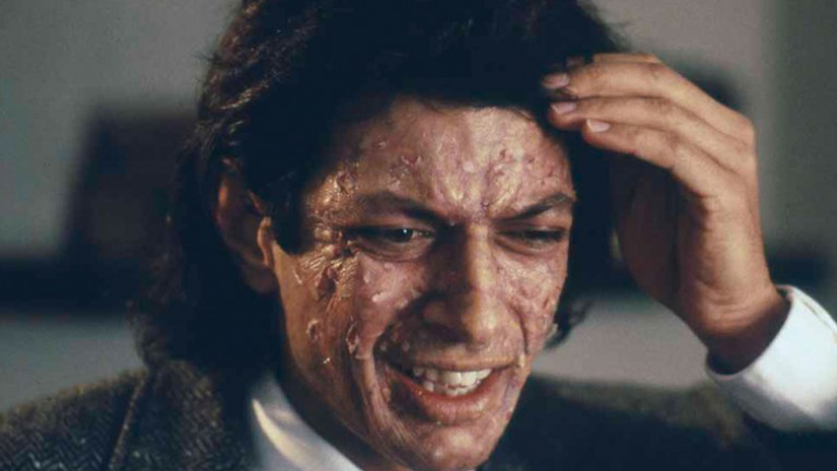 The Fly - 1986, David CronenbergWhen scientist Seth Brundle (Jeff Goldblum) completes his teleportation device, he decides to test its abilities on himself. Unbeknownst to him, a housefly slips in during the process, leading to a merger of man and insect. Initially, Brundle appears to have undergone a successful teleportation, but the fly's cells begin to take over his body. As he becomes increasingly fly-like, Brundle's girlfriend (Geena Davis) is horrified as the person she once loved deteriorates into a monster.