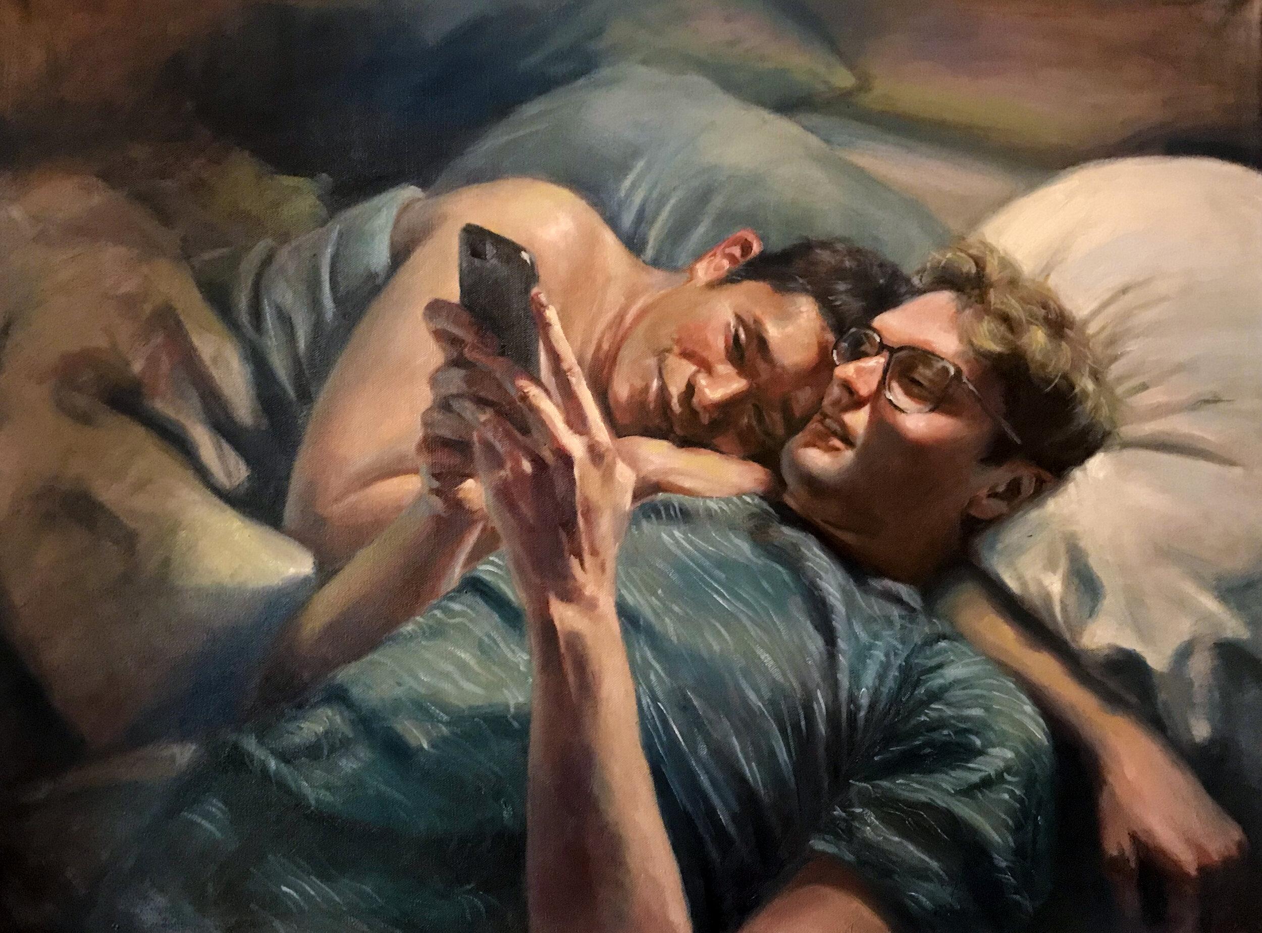 "Nighttime Rituals, 24x30"" oil on canvas (2018)"