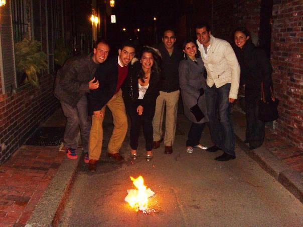 Above: A small group of Harvard alumni celebrating 13-Bedar in Boston in 2009