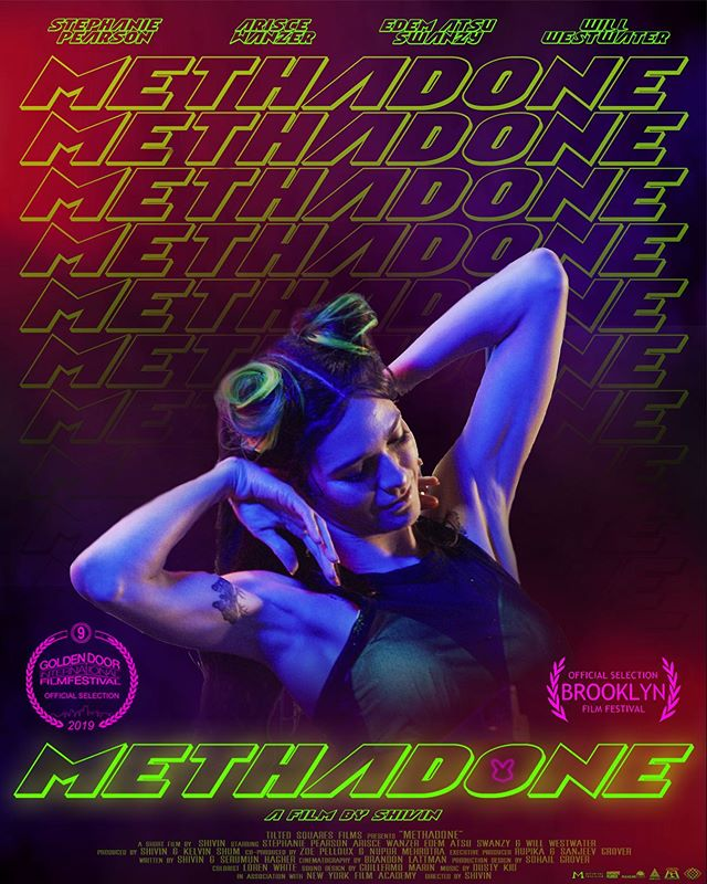 "This September at @goldendoorfilmfest  Get ready! . . . ""Methadone""  Staring @steph_pears  @ariscestocrat @willydubz & @edem.atsuswanzy  Written & Directed by @shivingrover  Co-Writer @asksaru  Produced by @kelvinkshum Nupur Mehrotra Cinematography by @brandonlattman  Production Design by @sunnymuchsohail  Music by Dusty Kid Costumes by @naikea_cheri  Make up @krs.top.her  Hair @little.bits.of.erica  A special thanks to @motorizedprecision @chapman_leonard @digitalsputnik  Shot on @reddigitalcinema . . @filmfreeway . #methadone #shortfilm #film #cinema #filmmaker #filmmakers #proofofconcept #webseries @primevideoin #underground #neon #vibe #losangeles #mumbai #bunny #saynotodrugs #filmfestivals #worldpremiere #bladerunner #neon #flashinglights #techno #trip #tiltedsquaresfilms"