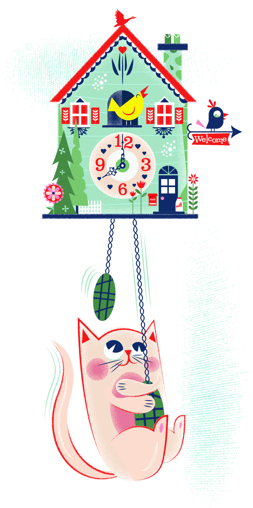 Cat and Clock