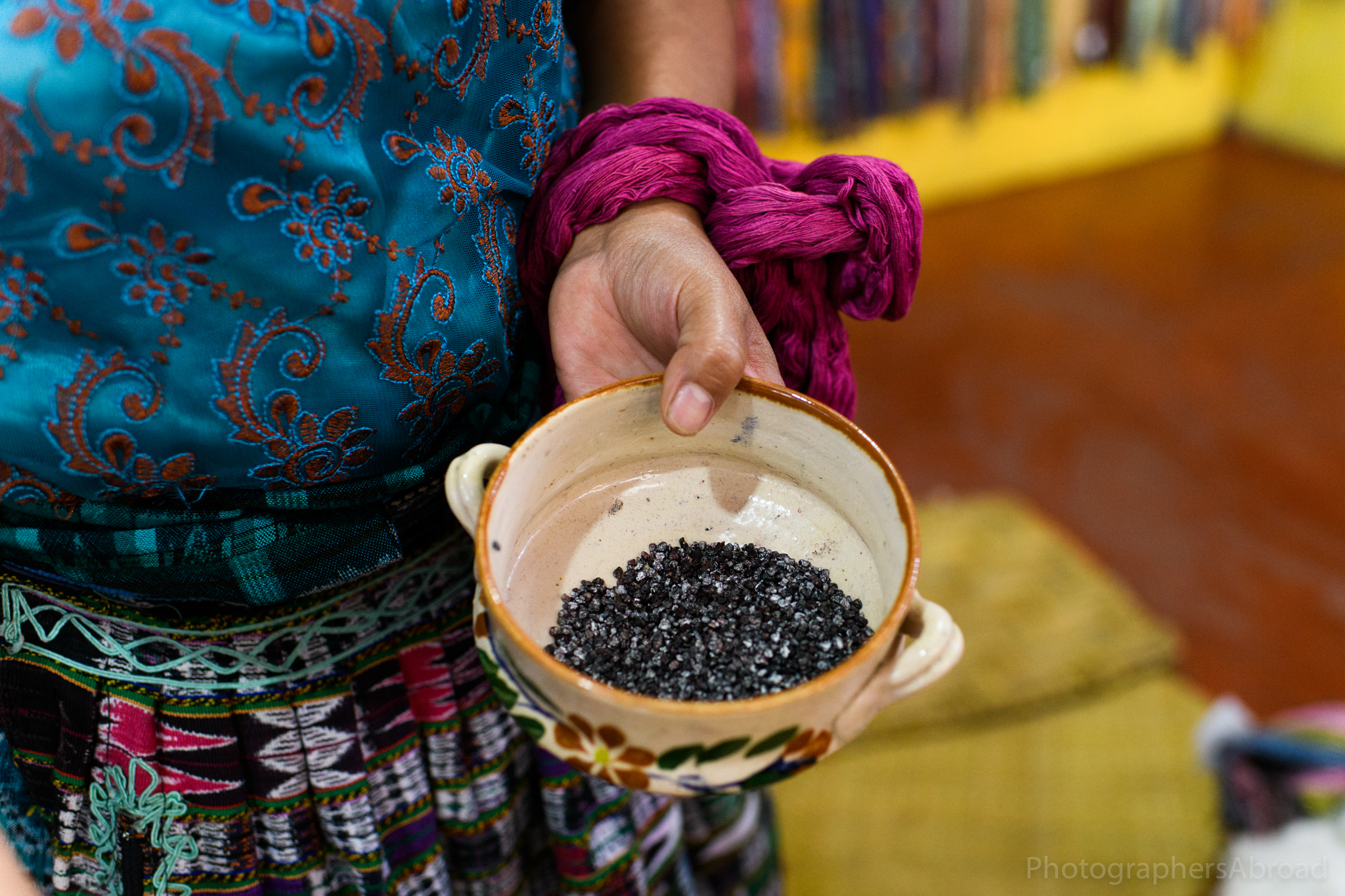 Crushed cochineal bugs produce a vibrant red dye.