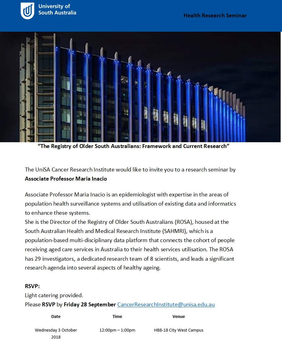 UniSA Health Science Seminar - Maria Inacio - flyer.jpg