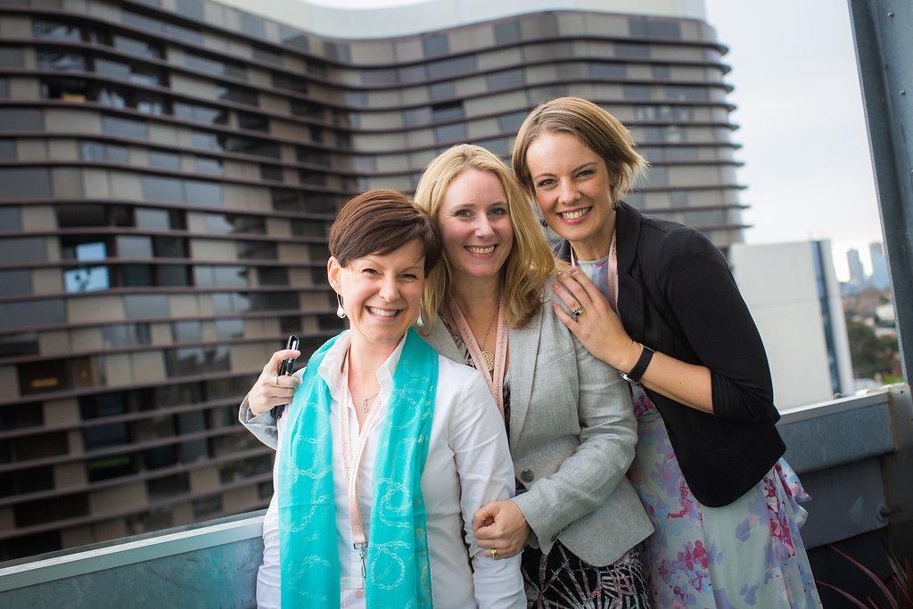 L to R: Rowena Mabbott, Laurelle Wishart, Kate Cashman