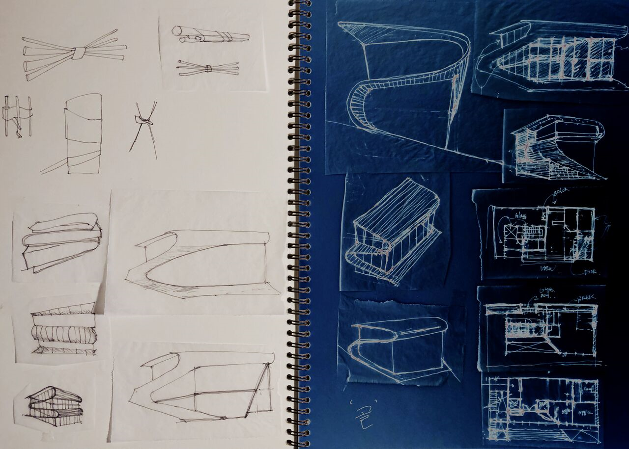 STEP II - TRANSFORMATION from inspiration to purely a STUDY/DRAWINGS of interesting and inspirational spaces.