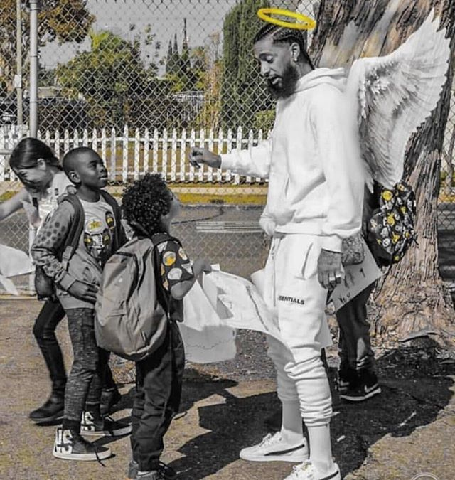 Young Warriors we want you to one day become a positive influence in your own neighborhood but remember you're own neighborhood may envy your success and efforts. Doing good in the hood is a risk, but we still need to be involved to create changes. We will talk more about this soon in program. #staytruetoyou #nipseyhussle #ripnipseyhussle #youngwarriors #fatherlessnomore