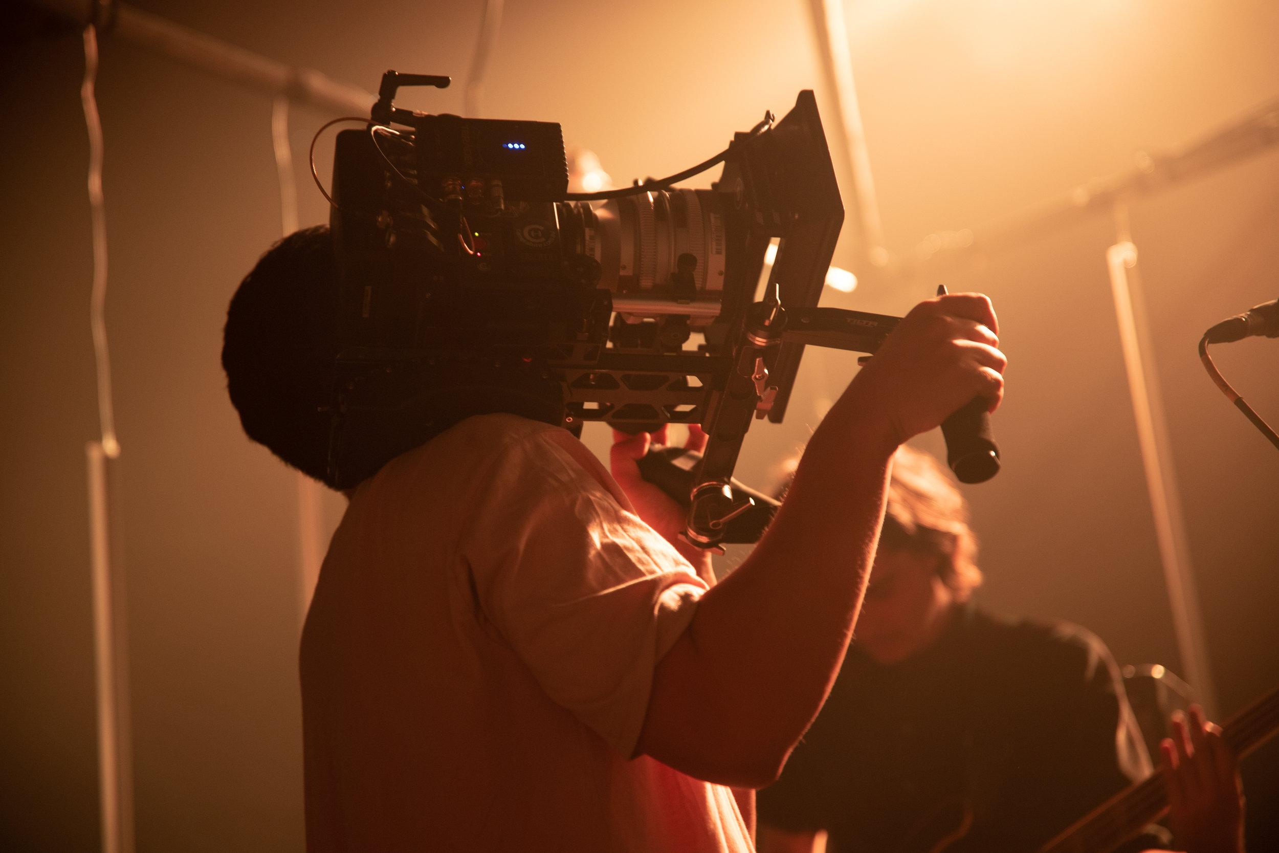 Killa Kreative red camera shoulder rig