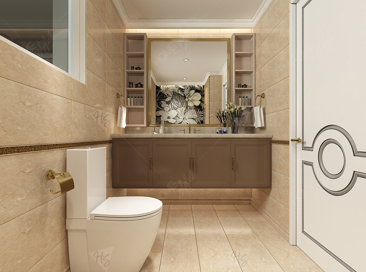 Khu vực WC với nội thất sang trọng tại phòng riêng.