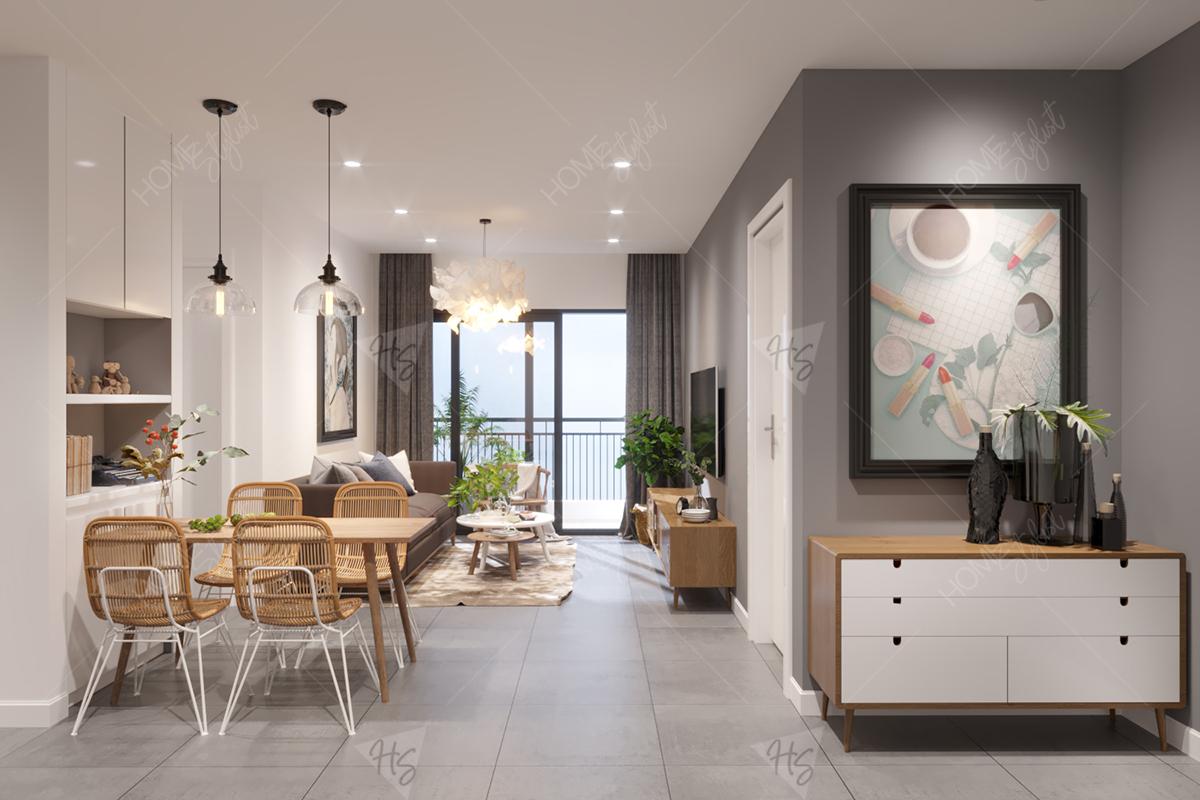 Thiết kế nội thất chung cư 70 m2 tại Masteri Thảo Điền