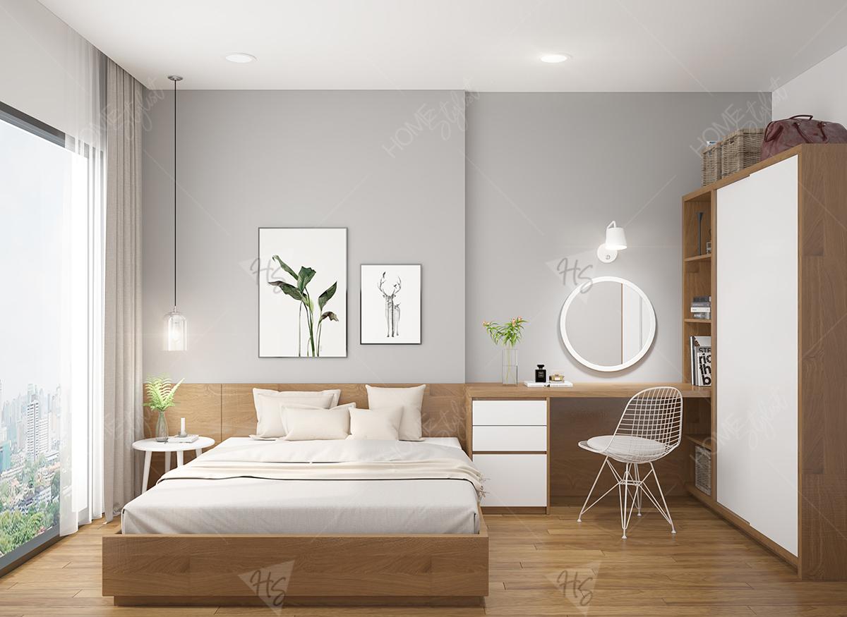 Thiết kế nội thất phòng ngủ master căn hộ