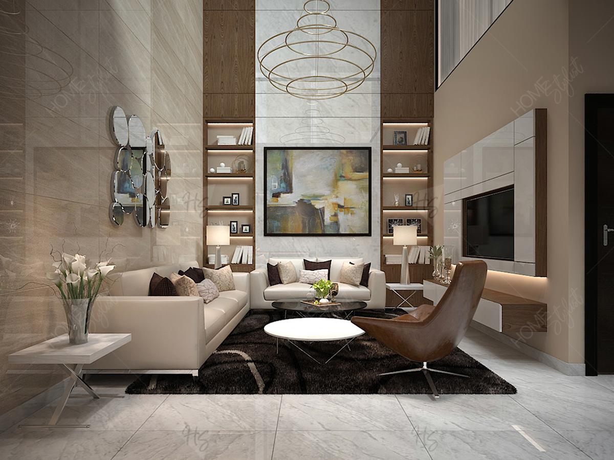 Thiết kế nội thất nhà phố Nguyễn Chí Thanh phong cách Tân Cổ Điển