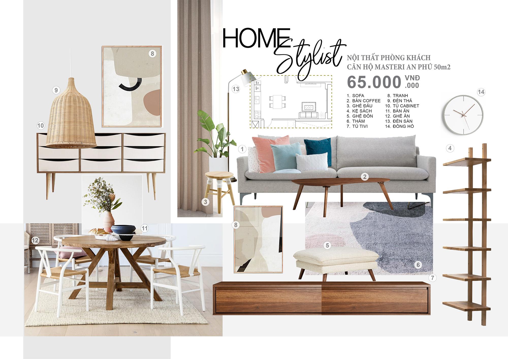 Concept nội thất phòng khách căn hộ Masteri - Không gian phòng khách là ấn tượng đầu tiên của gia chủ và khách tham quan.Với bộ concept này bạn sẽ không còn băn khoăn về cách sắp xếp và lựa chọn đồ nội thất như thế nào cho hợp lý. Mẫu concept với nội thất cao cấp phù hợp cho những phòng khách 50m2, căn hộ masteri.