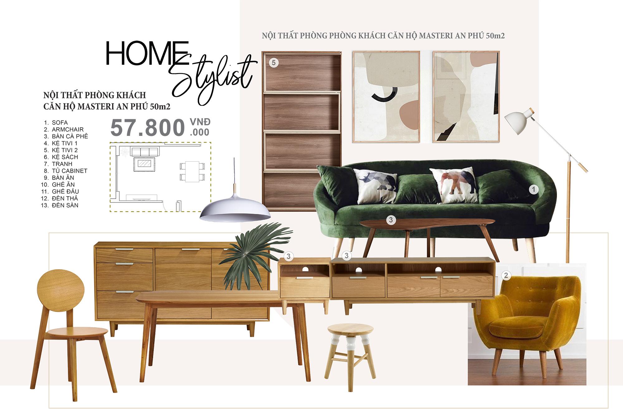 Concept nội thất phòng khách căn hộ Masteri - Cách sử dụng chất liệu gỗ mang đến sự sang trọng và không gian tiện nghi cho căn hộ. Mẫu concept với chi phí phù hợp đã bao gồm đồ nội thất. Liên hệ ngay các Stylist của chúng tôi để được tư vấn chi tiết hơn về ý tưởng.