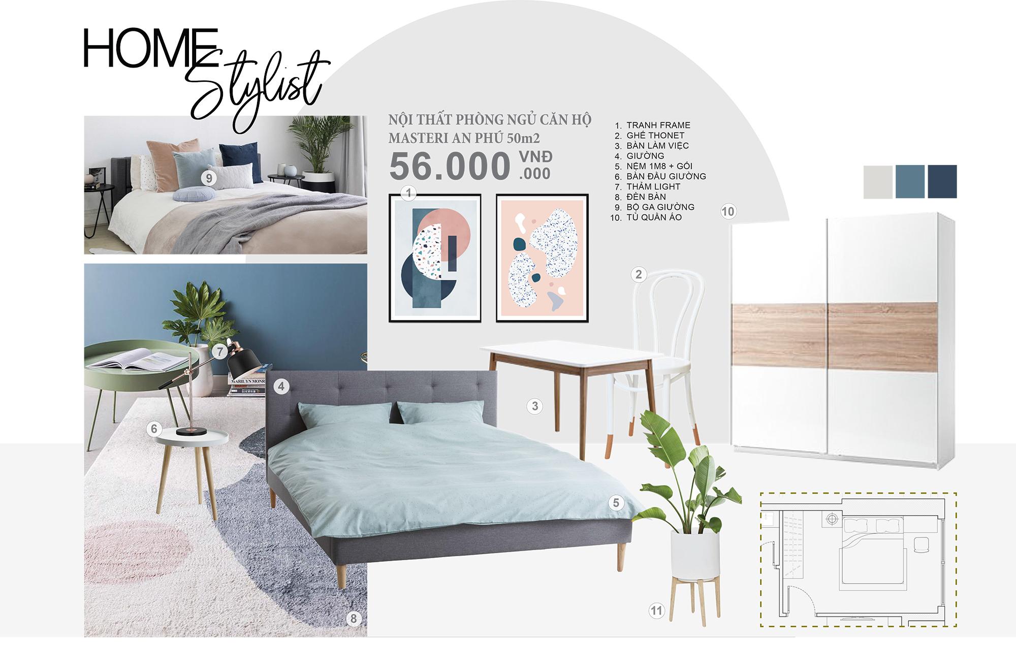 Concept nội thất phòng ngủ căn hộ Masteri - Không gian phòng ngủ là nơi mang đến cảm giác thư giãn cho mỗi người. Cách bố trí khoa học hợp lý tác động mạnh đến cảm nhận và cảm giác cho người sử dụng.Với mẫu concept này bạn sẽ hoàn toàn thoải mái sử dụng và gắn bó với căn hộ của mình.