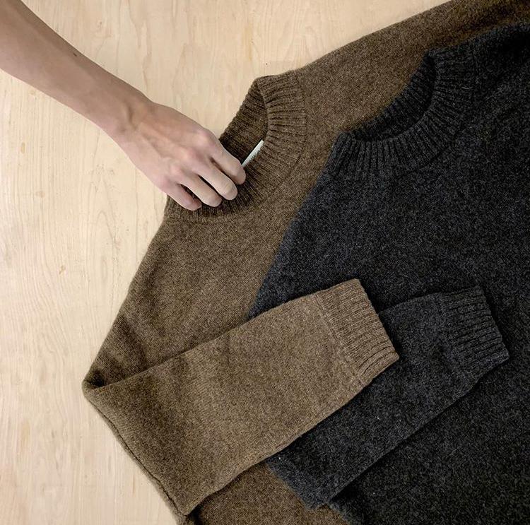 Wool sweaters.