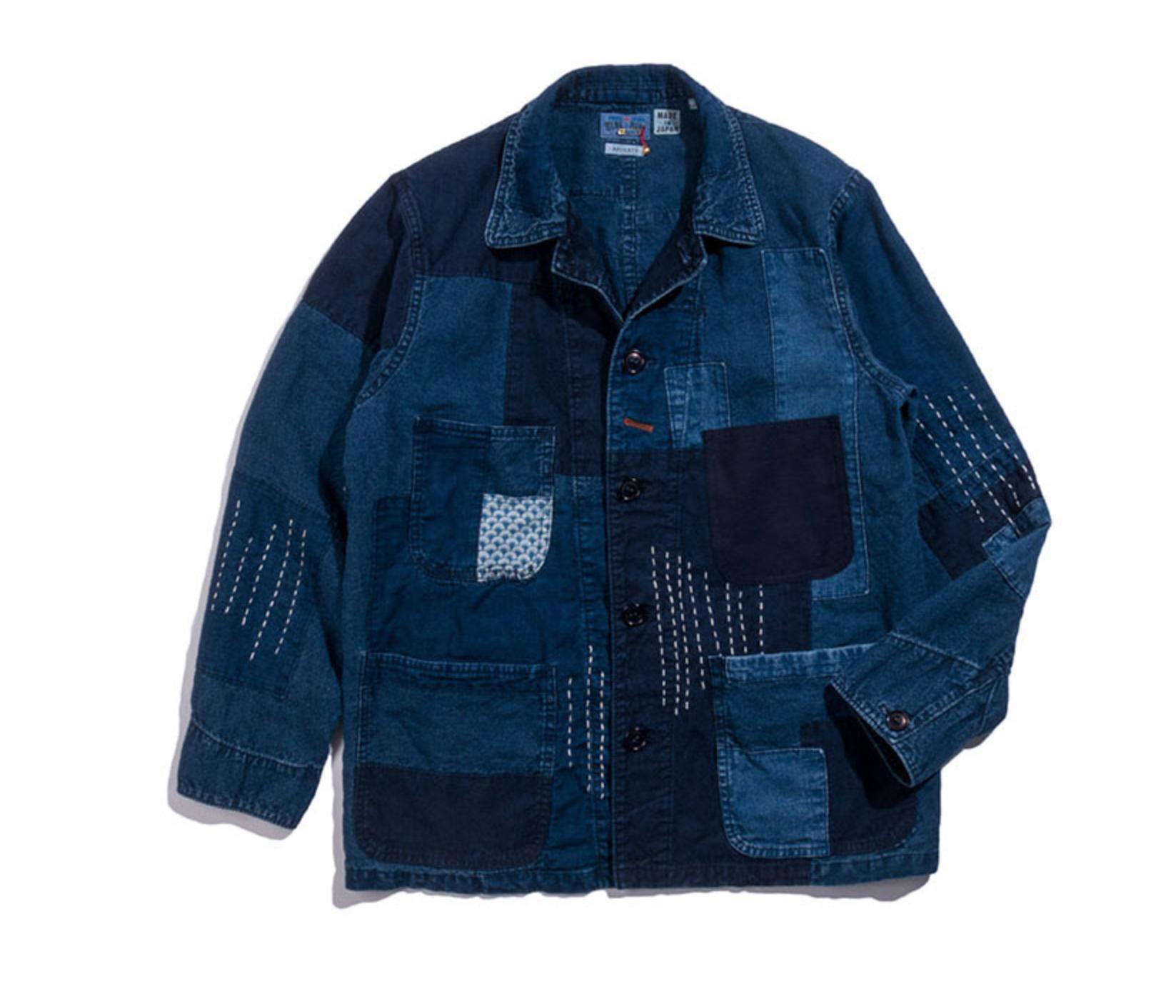 indigo Patchwork Jacket
