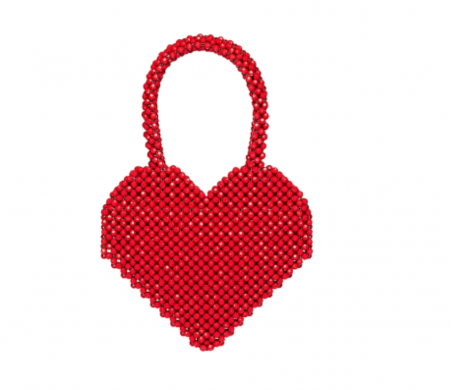 - MARIA BEADED HEART TOTE