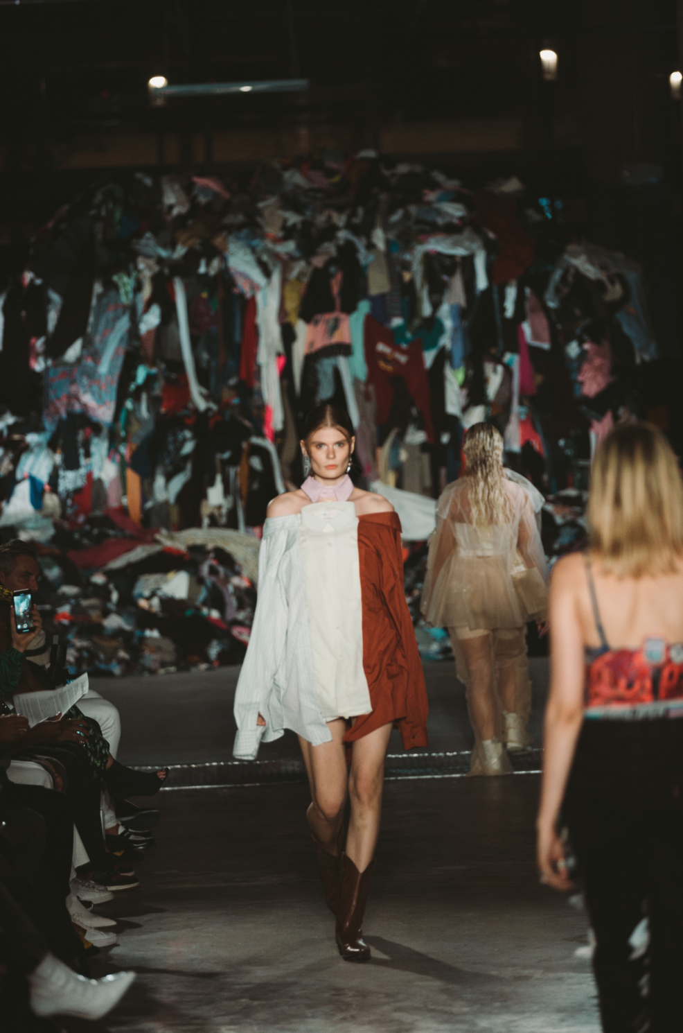 Look 2 : - Made by @cityviewscoop dresses made from 6 old shirts.