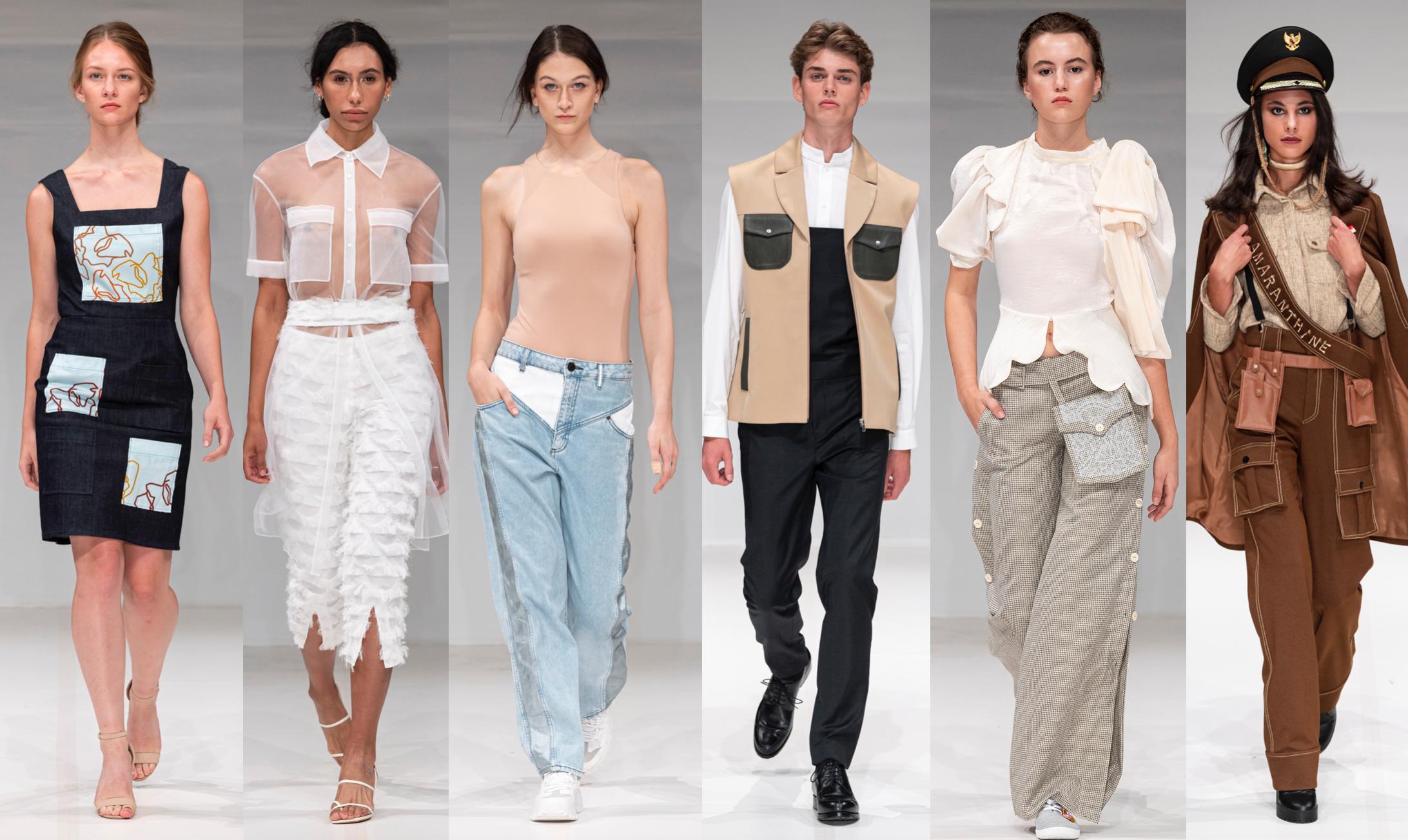 Left To Right:    Lexlo, Point Zero One, Raw Jeans, Maria Barreca, Amaranthine Atelier