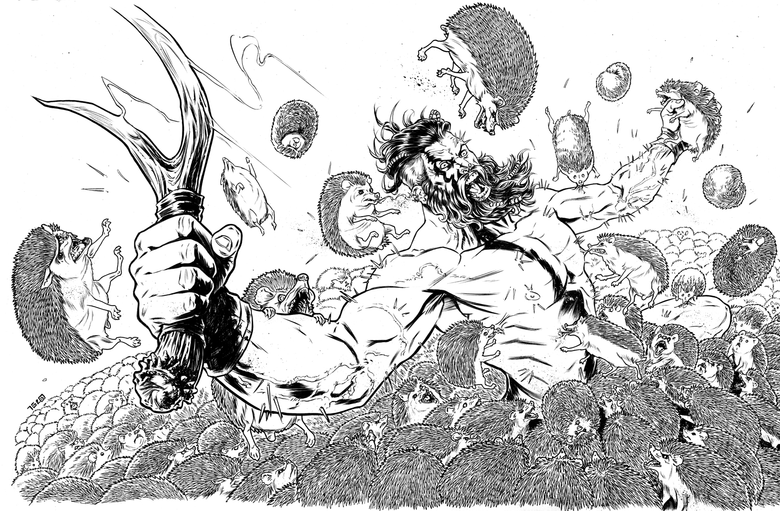 Berserker vs Hedgehogs.inks.jpeg