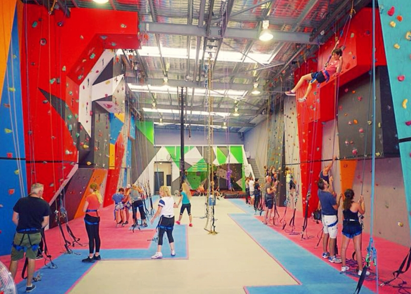 Indoor Rock climbing - From beginner to professional there is a challenge for the whole family.