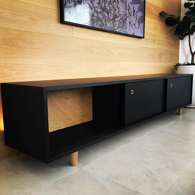 A modern/retro inspired custom cabinet from a recent interiors project.  A mixture of solid and turned American Oak and modern materials. . . . . . .#furniture #industrialdesign #modernretro #mattblack #black #blacklovers #woodturning #oak #cabinet #cabinetmaking  #dinz #nzarchitecture #design #designandbuild #architecture #designandmake #custom