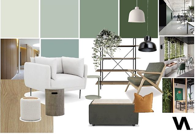 Moodboard for a new office. Something a little different for me but fun !