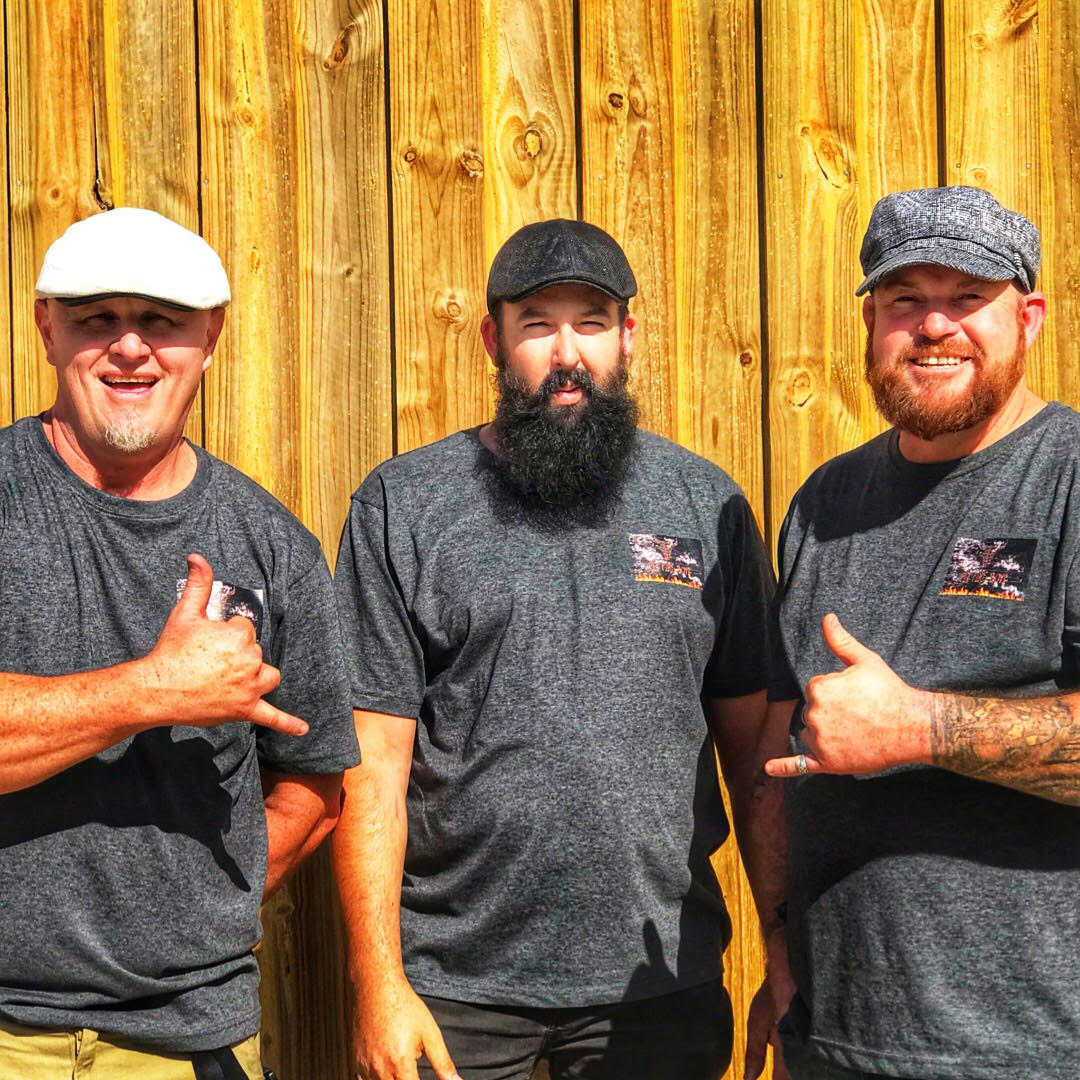 Pit Fire Boys BBQ competition team: Mark, Phill and Paul.