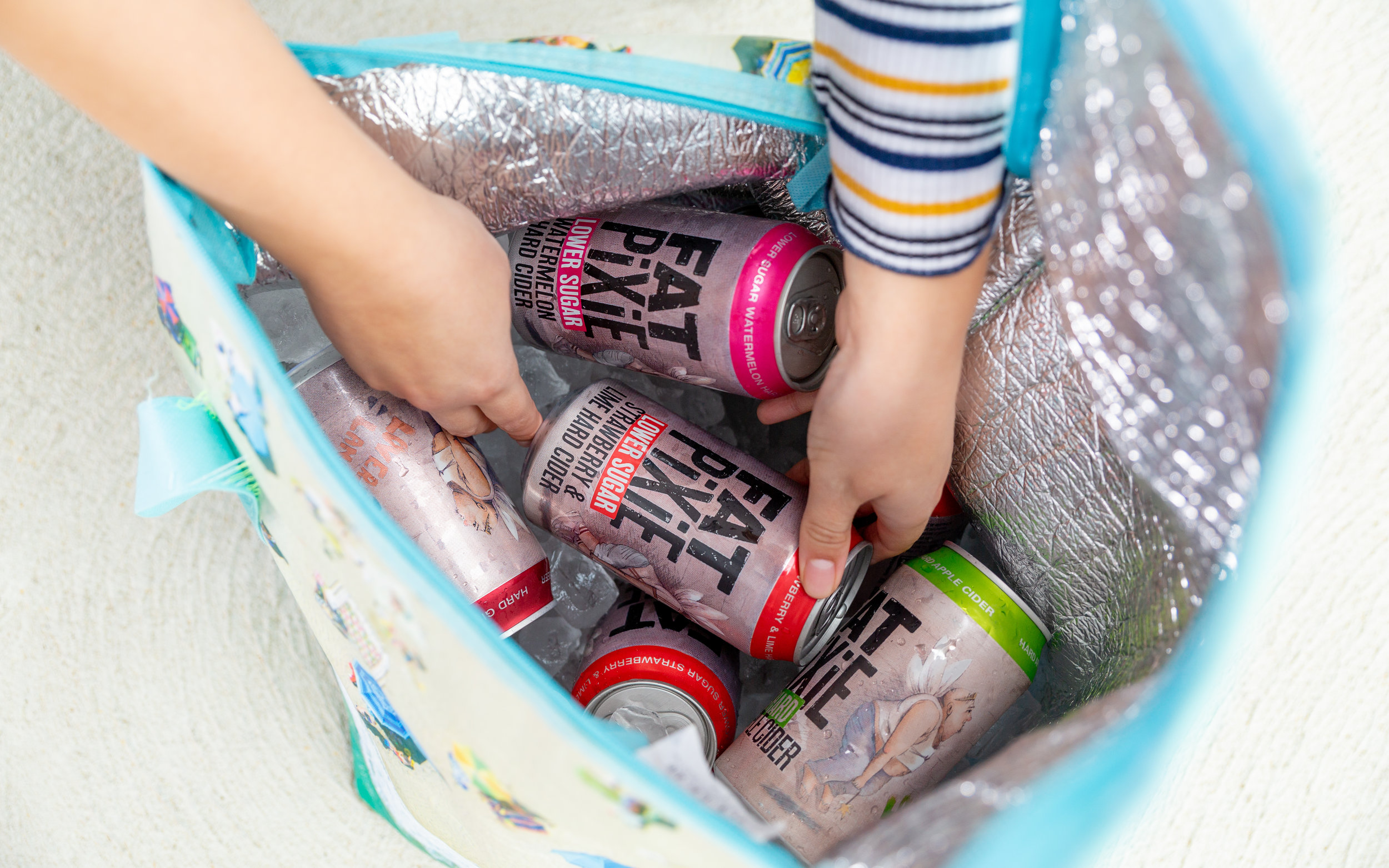 Fat Pixie Ciders In Cooler Bag