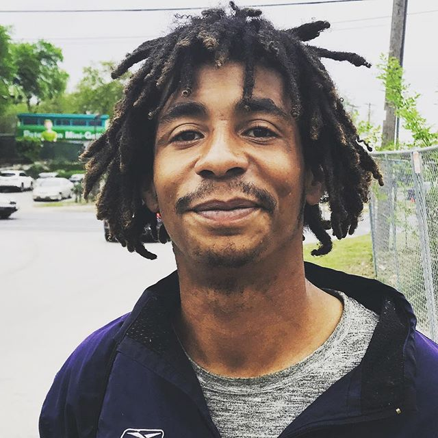 "This is Sam. I met him while he was panhandling in Austin. He is 26 and has been homeless for a few years. Sam is a very gentle soul, he has a very sweet and innocent presence. It was beautiful to feel how appreciative he was to connect with someone.  At a certain point in his life he was run over by a car going 50 Mph, which snapped his leg in half. He now has a metal pole in his leg that goes from his ankle to his knee, which forces him to walk with a limp. He said that it's an issue because he can't actually stand for long durations of time before it starts to hurt. At one point during our conversation I offered him a sleeping bag that I had with me but he refused it because he said other people would steal it.  I usually don't share posts like this as I often times prefer to give in silence because I do not want these things to be about me. But I also realize that we can all become greater invitations for other people to give, by doing whatever we can.  Sam told me that his mission is to end homelessness, and that sometimes he spends extra time on he streets panhandling just he can tell people ""god bless."" If you are like me, when you feel into all of the issues in the world it can almost overwhelm you. There are so many people who are struggling that it can seem like anything that we do may feel insignificant.  I have actually realized this is part of the problem. We need to stop thinking about the ""big"" issues that stop us from doing anything and start focusing on the issues right in front of us that we can do something about.  I have something brewing that I feel will allow us to collaborate on making this world a better place.More on that soon. Support the movement. Go to www.giveloveproject.com 👆🏽👆🏼👆🏽LINK ABOVE👆🏼👆🏽👆🏼👆🏽 we will put 50% of the proceeds for each chain we sell this week towards helping Sam realize his vision to end homelessness, his and everyone elses"