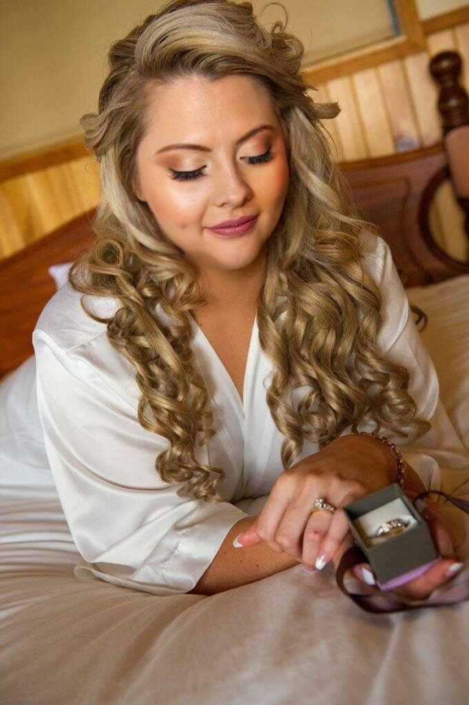 Bride After Hair and Airbrush Makeup