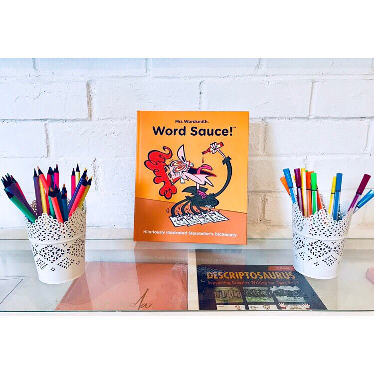 We love books at The Schoolroom. Check out our newest addition, Mrs Wordsmith's 'Word Sauce' - it is amazing! It contains over 4000 storytelling words and is packed with inspiring images, perfect for developing your child's vocabulary.