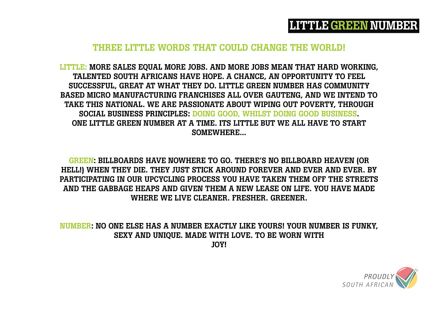 Little Green Number Catalogue Buy1give1 upcycling billboards gauteng2.jpg