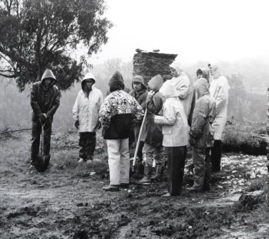 Die erste Pflanzaktion 1996