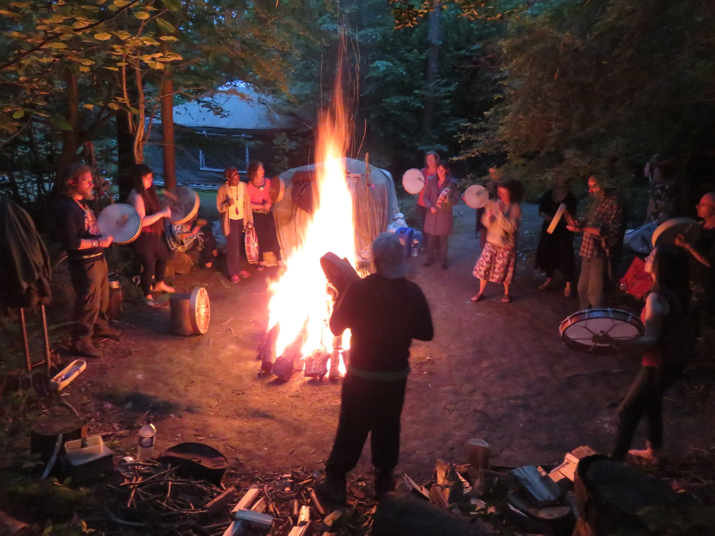 Shamanic training - Explore the ancient art of shamanism, held in the heart of the woods, rebirthing traditions that are relevant for today. Includes new 2, 3, 4 and 5 year training programmes.