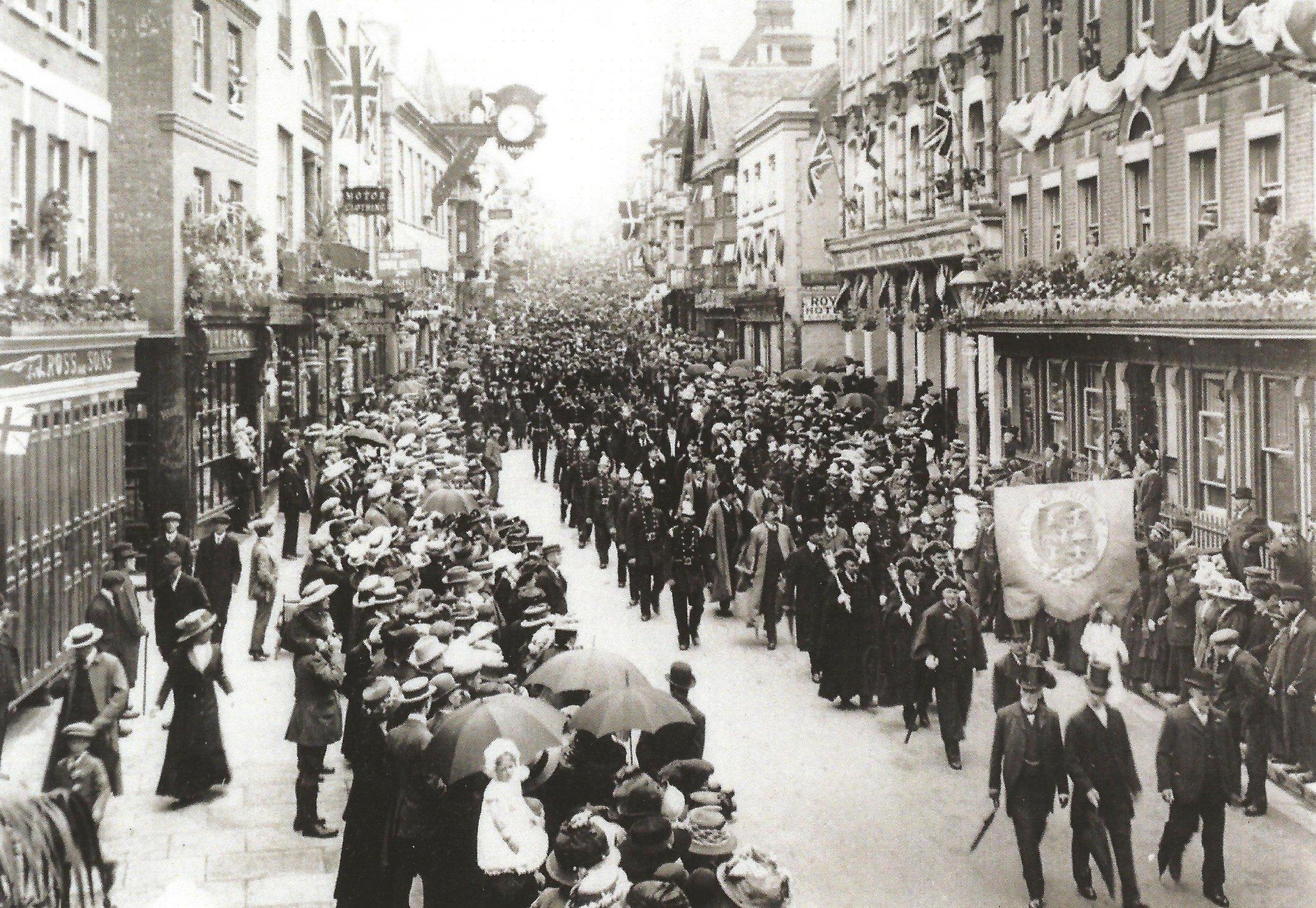 winchester coronation procession 1911