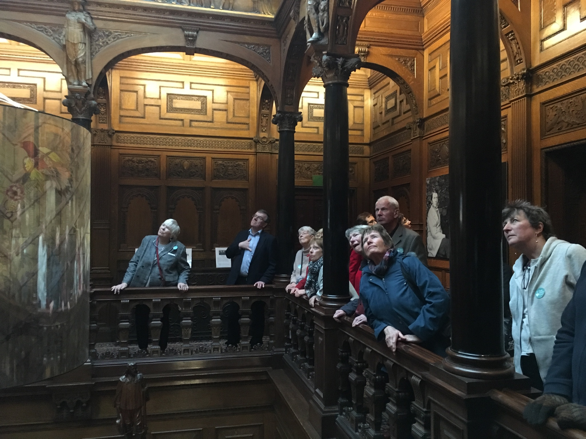trust members admire the ceiling at 2 temple place