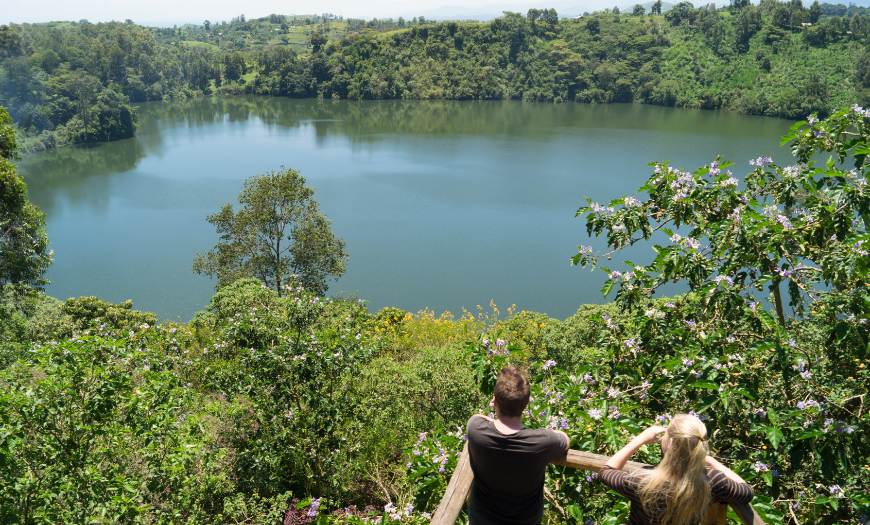 Crater Lakes - About 20-30 km south of Fort Portal are the Ndali-Kasenda Crater Lakes (about 60 fresh water lakes). You can make a scenic route by car or you can explore them on foot.