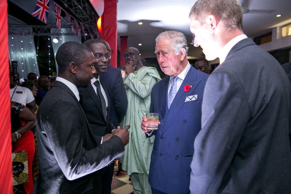 Prince Charles meets Kwabena Danso
