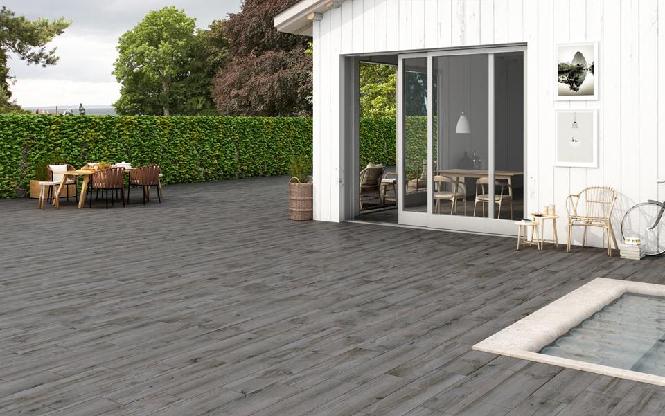 Norway Grey Wood Effect Porcelain Floor Tiles