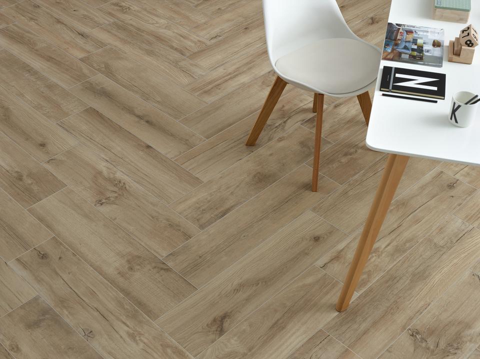 Norway Natural Herringbone Porcelain Floor Tiles