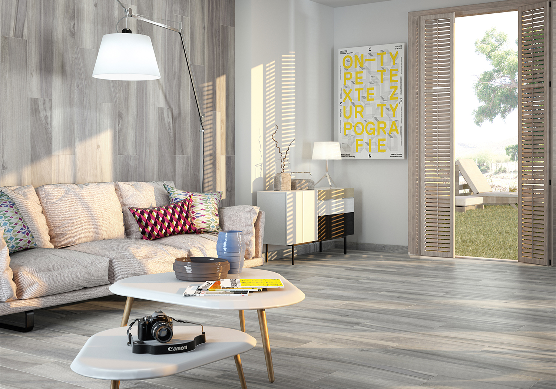 Project Grey Matt Porcelain Wood Effect Tiles