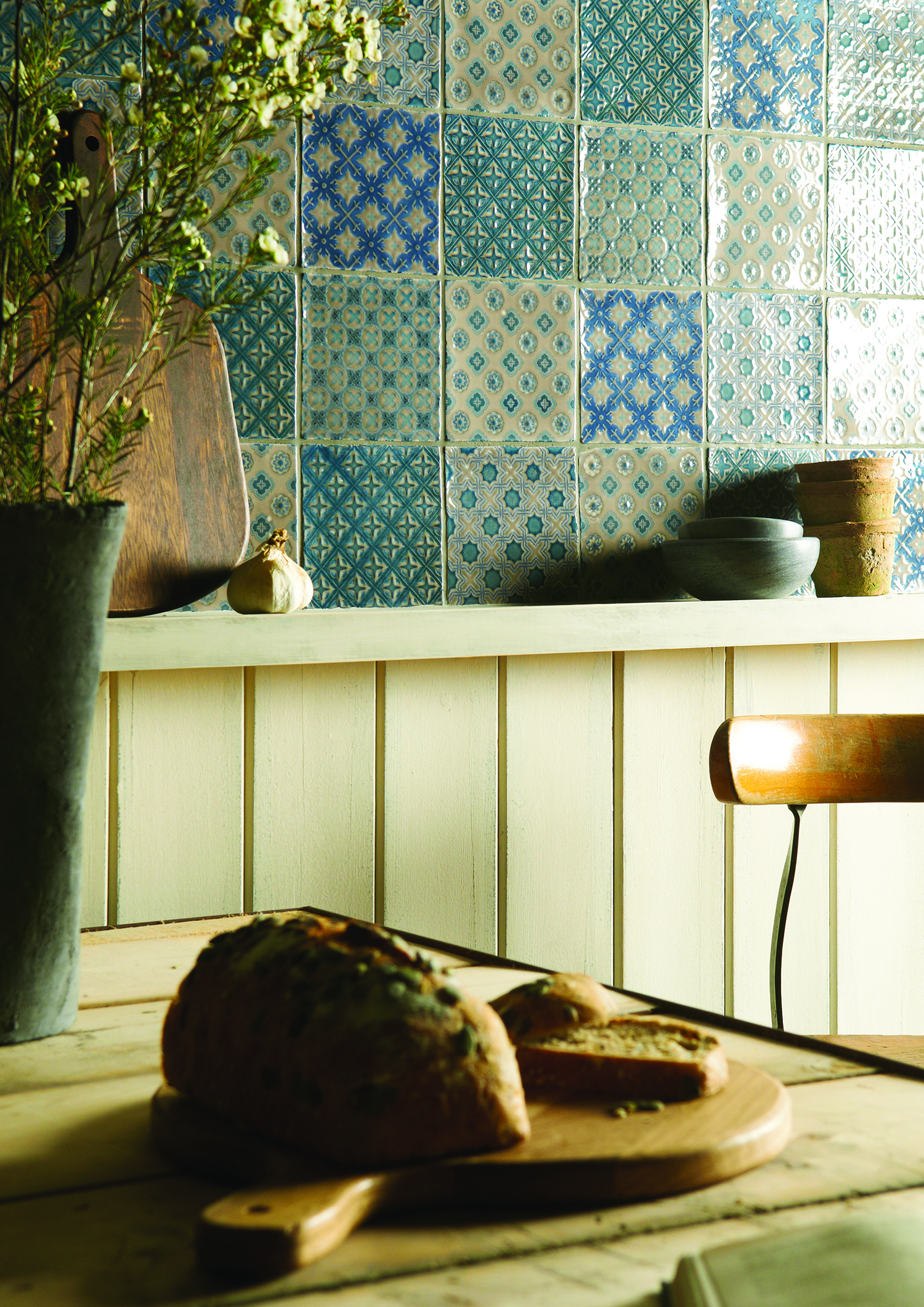 Winchester Chateaux Mix on Truffle Ceramic Tiles