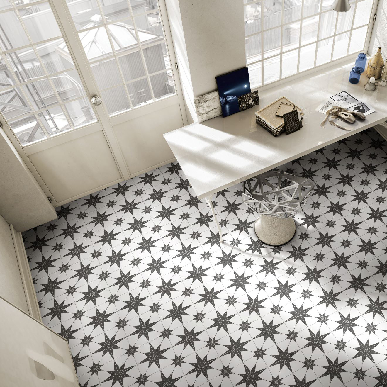 Stella Nero Porcelain Tiles