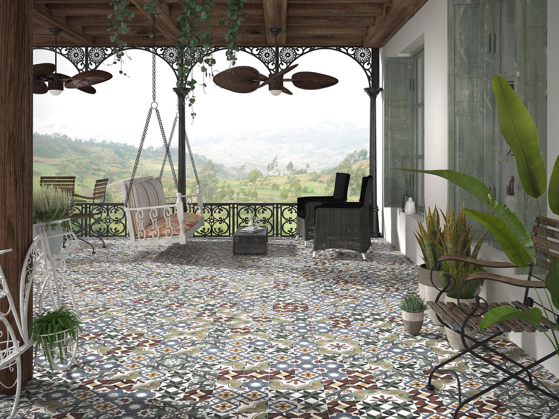 Floriane Olivia, Mabel, Karen and Celin Patterned Tiles